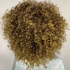 Ombré Honey Blonde Synthetic Curly Wig